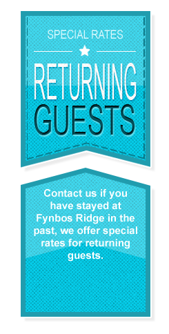 Fynbos Ridge Returning Guests Specials