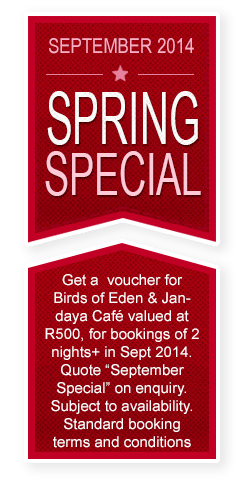 Fynbos Ridge Spring September Specials 2014