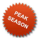 Plett B & B Peak Season Accommodation Rates
